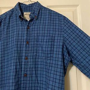 Men's American Eagle Premium Indigo Button Down